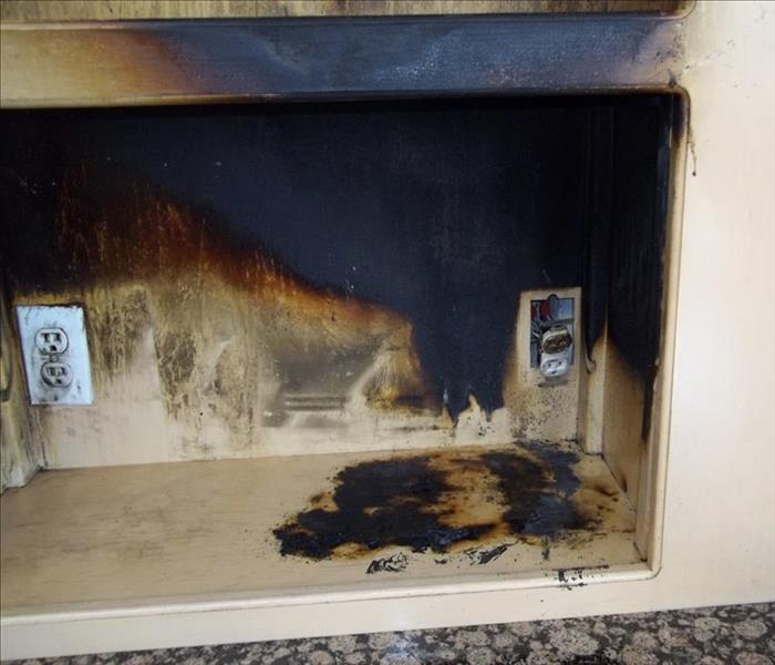 Kitchen outlet fire-what would you do?