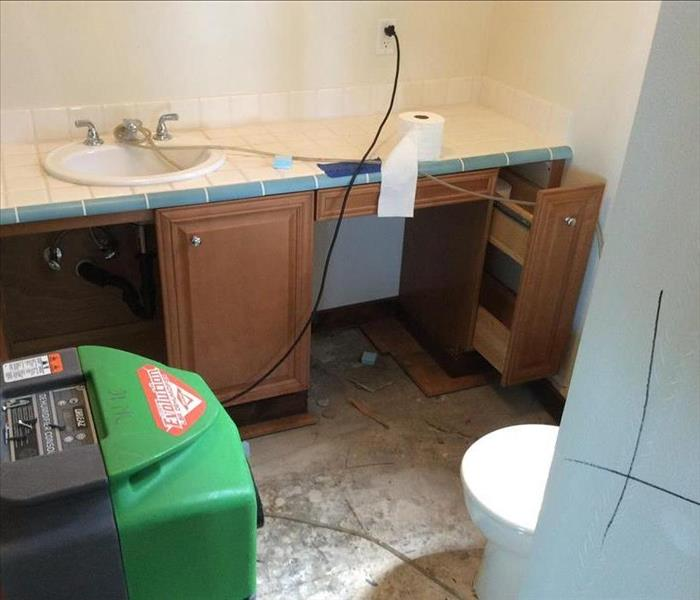 Water damage due to toilet line
